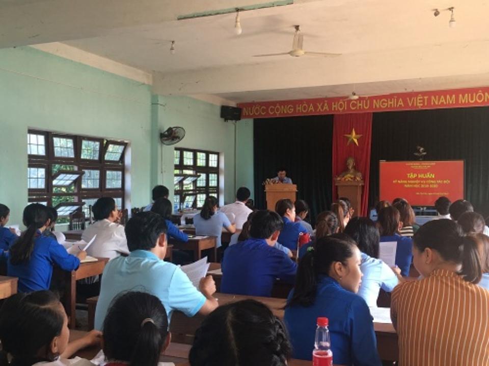 Hội nghị tập huấn công tác Đội và hoạt động ngoài giờ lên lớp năm học 2019-2020